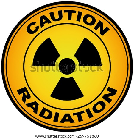 Caution Radiation sign - stock vector