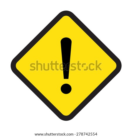 caution vector sign - stock vector