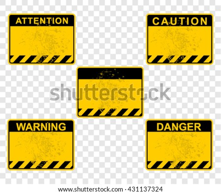 caution, warning, attention, danger, signs - stock vector