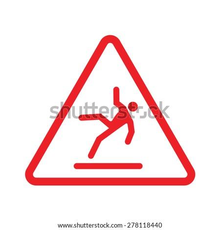 caution wet floor - stock vector