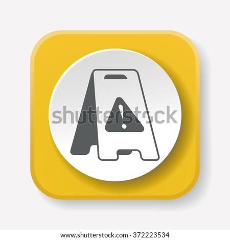caution wet floor icon - stock vector