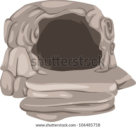 cave - stock vector