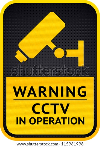 CCTV Camera Video surveillance sticker 10eps - stock vector