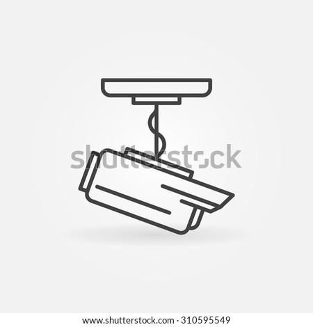 Cctv Icon Vector Security Surveillance Camera Stock Vector 310595549