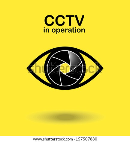 CCTV in operation. Vector Illustration - stock vector