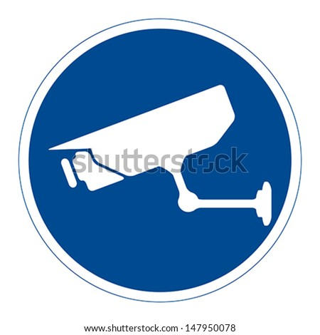 CCTV surveillance, sign, vector - stock vector
