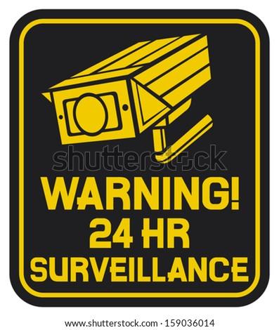 CCTV triangle symbols (camera surveillance sign, security camera, security alarm cctv, camera surveillance, outdoor security camera) - stock vector