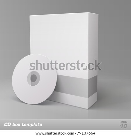 CD box template. Vector - stock vector