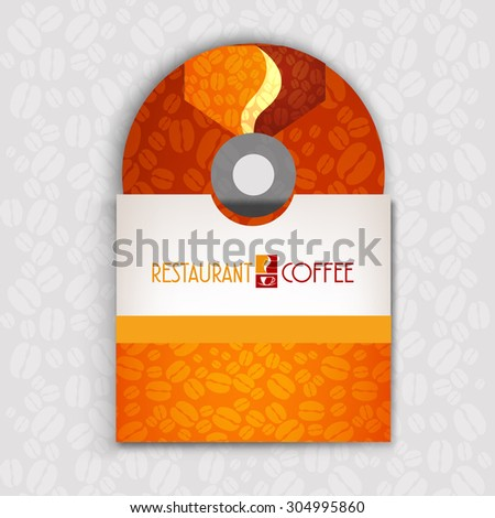 CD cover art corporate identity Menu Restaurant Background coffee beans