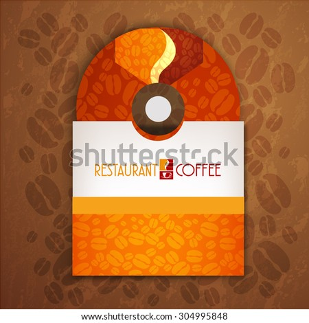 CD cover art corporate identity Menu Restaurant Background coffee beans brown