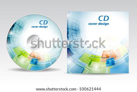 CD cover design - stock vector