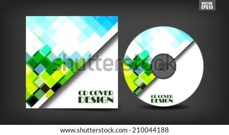 Cd Cover Design Template - stock vector