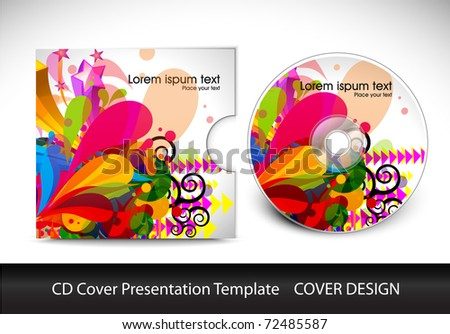 cd cover design template presentation , editable vector illustration