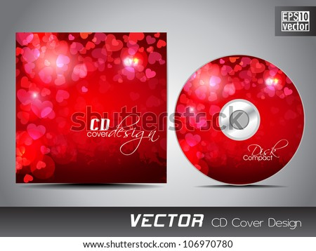 CD cover design template with copy space. EPS 10. - stock vector