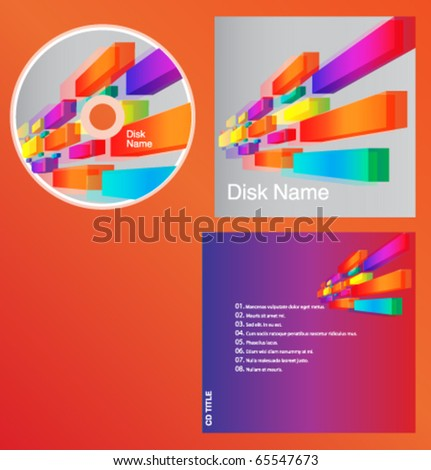 CD cover design with copy space, vector. - stock vector
