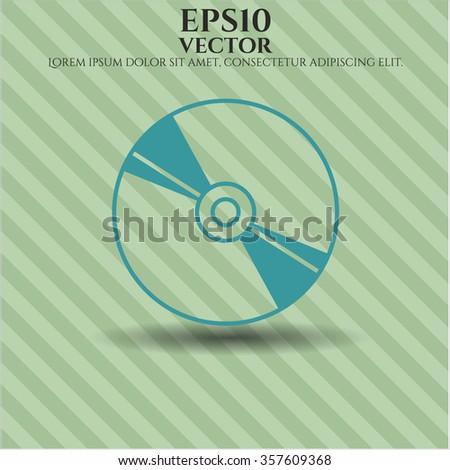 CD disc vector symbol - stock vector