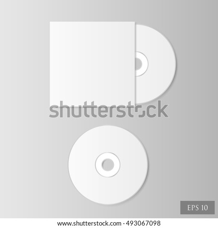 CD disk on the light background
