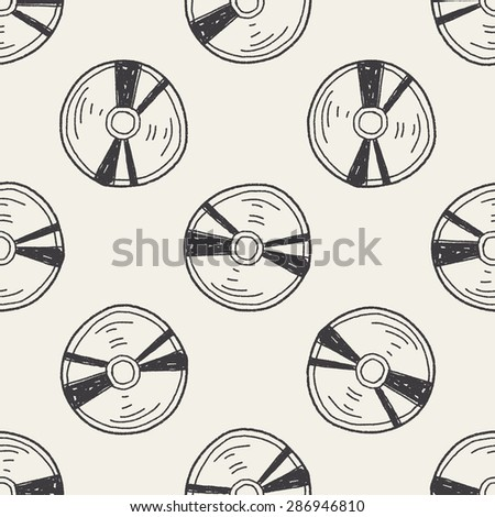 cd doodle seamless pattern background - stock vector