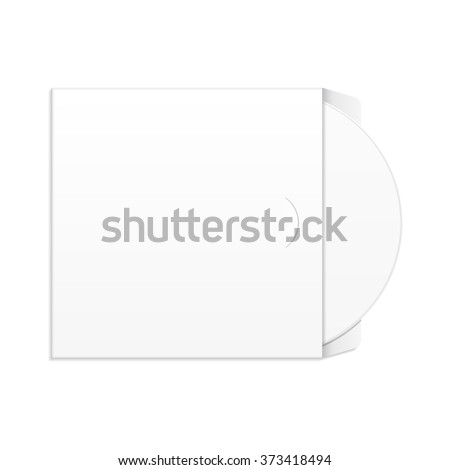 CD, DVD Disk Envelop Cover, Corporate Identity And Branding Templates. Illustration Isolated On White Background. Mock Up Template Ready For Your Design. Product Packing Vector EPS10 - stock vector