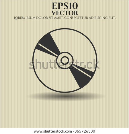 CD, DVD or Blu Ray disc icon or symbol - stock vector