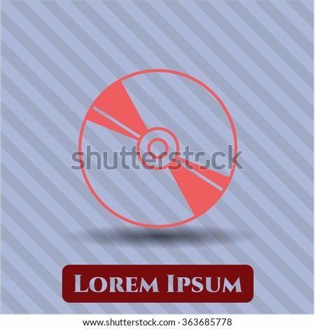 CD, DVD or Blu Ray disc vector icon - stock vector