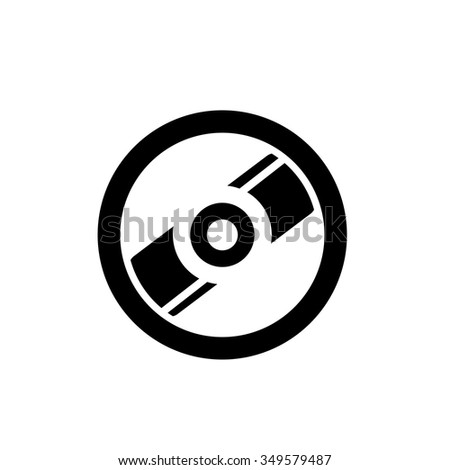 CD / DVD sign icon. Compact disc symbol