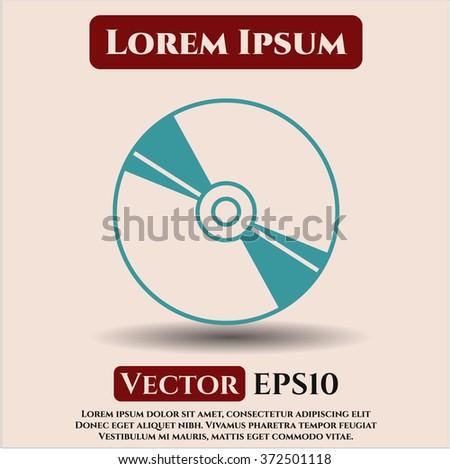 CD or DVD disc icon - stock vector