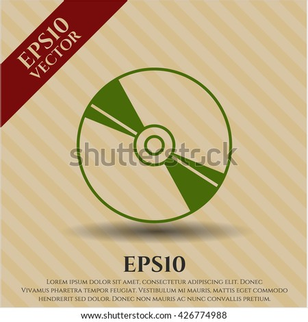 CD or DVD disc icon, CD or DVD disc icon vector, CD or DVD disc icon symbol, CD or DVD disc flat icon, CD or DVD disc icon eps, CD or DVD disc icon jpg, CD or DVD disc icon app - stock vector