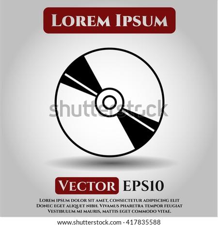 CD or DVD disc symbol - stock vector