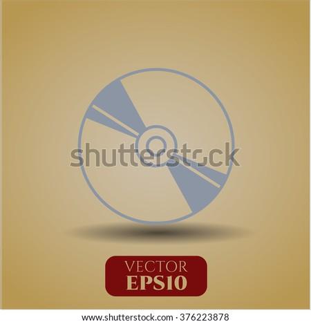 CD or DVD disc vector symbol - stock vector