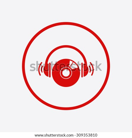 CD or DVD icon. Compact disk symbol. - stock vector