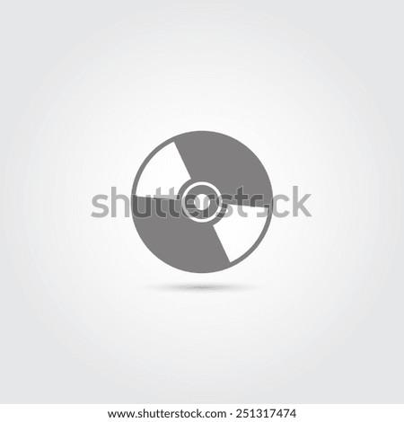 CD or DVD icon - Vector - stock vector