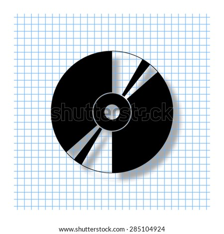 CD or DVD - vector icon with shadow - stock vector