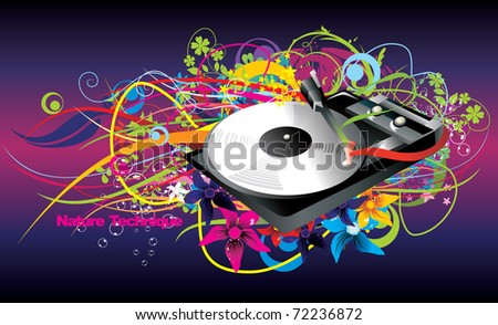 cd player vector color illustration