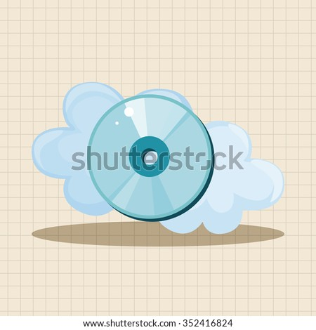 CD-ROM theme elements - stock vector