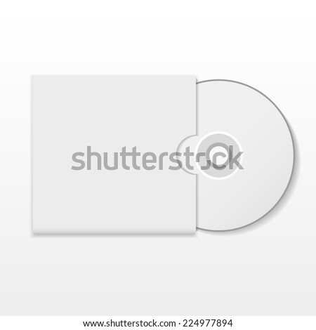 Cd with cover. Vector design. - stock vector