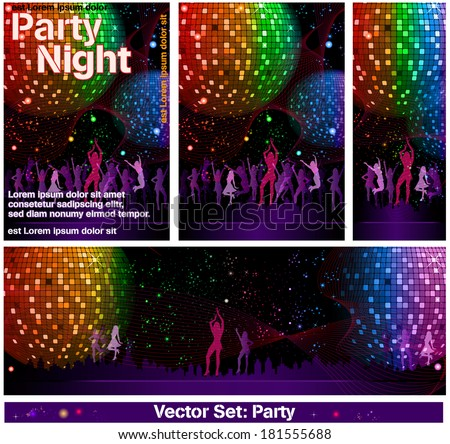 Celebrate Set Party - stock vector