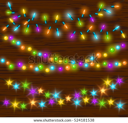 celebration christmas new years birthdays and other events glowing colorful led lights bulbs lamps circles - Celebration Christmas Lights