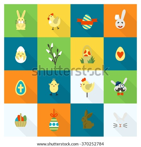 Celebration Easter Icons - stock vector