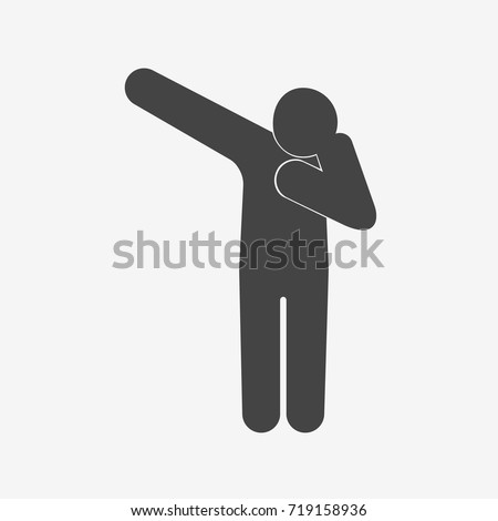 celebration pose dab silhouette flat vector stock vector royalty