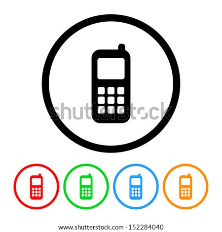 Cell Phone Icon - stock vector