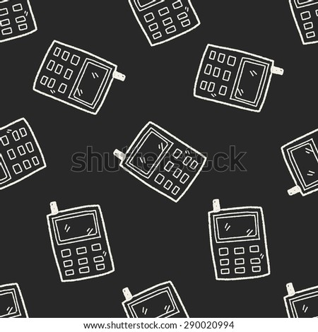 cell phone message doodle drawing seamless pattern background
