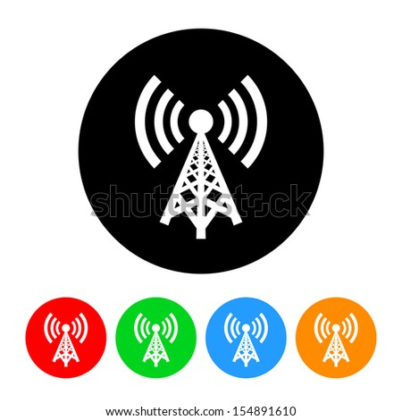 Cell Phone Tower Icon - stock vector
