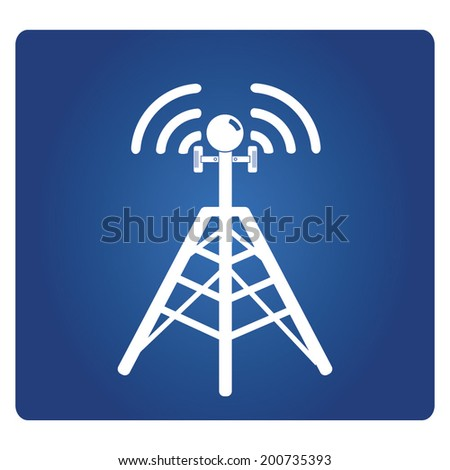 cell site sign, telecommunications radio tower