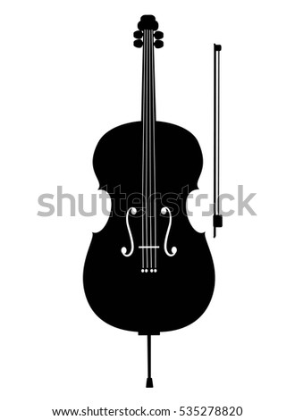 Cello Icon Isolated On White Background Musical Instrument Vector Illustration
