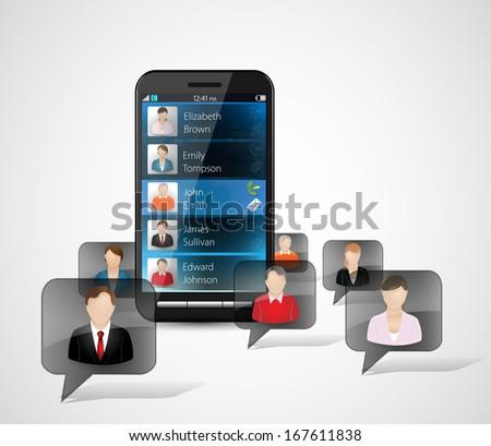 Cellphone 4 - stock vector