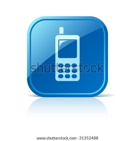 Cellphone icon - stock vector