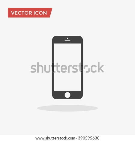 Cellphone Icon in trendy flat style isolated on grey background. Smartphone pictogram. Telephone symbol for your web design, logo, UI. Vector illustration, EPS10. - stock vector