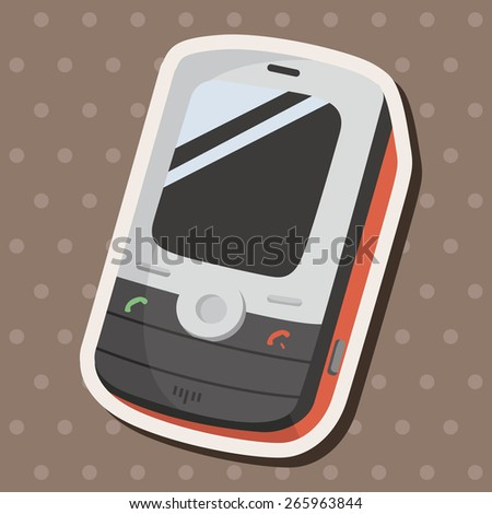cellphone theme elements vector,eps