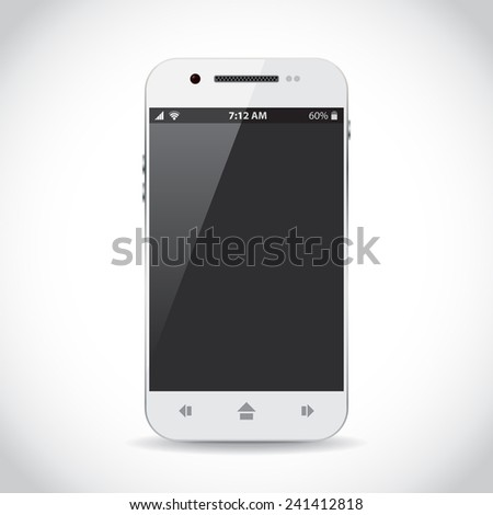 Cellphone with flat icons - stock vector